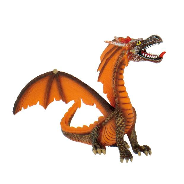 Drachen - Drache sitzend orange
