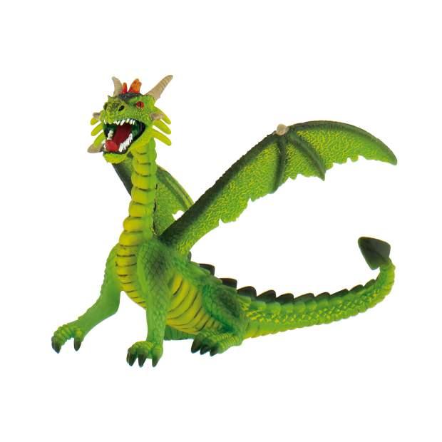 Drachen - Drache sitzend grün
