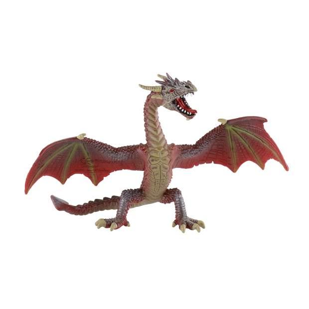 Drachen - Drache fliegend rotbraun