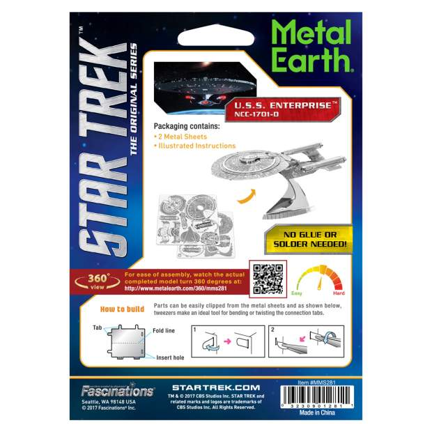 Metal Earth: Star Trek NCC-1701D USS Enterprise