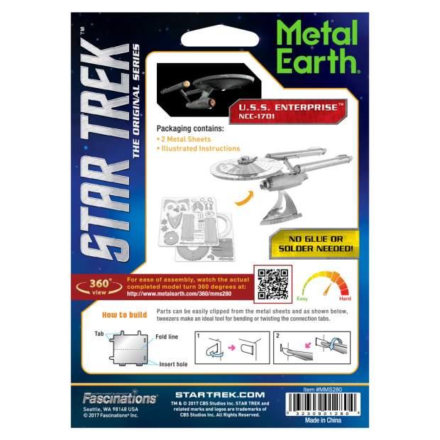Metal Earth: Star Trek NCC-1701 USS Enterprise