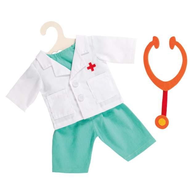 Arzt-Outfit mit Stethoskop, Gr. 28-35 cm