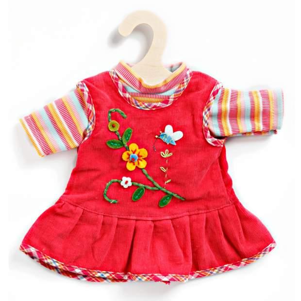 Peppiges Kleid mit T-Shirt, mini, Gr. 20-25 cm