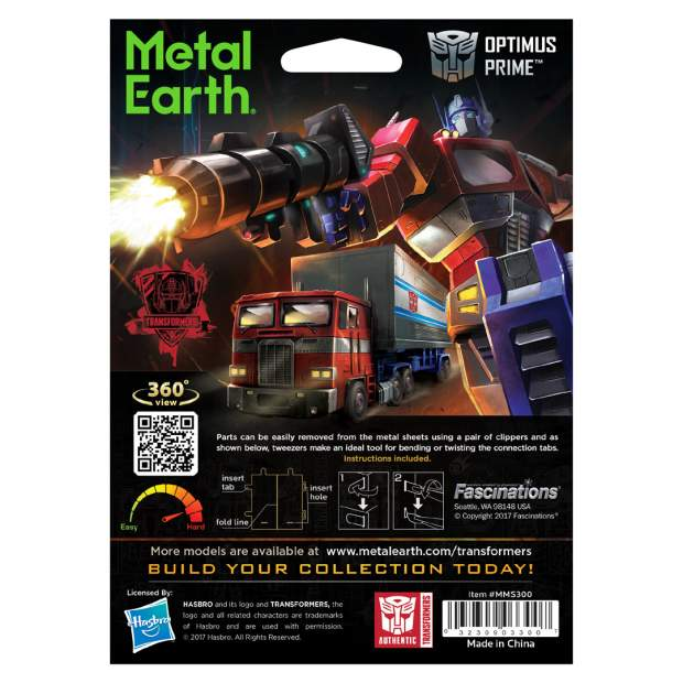 Metal Earth: Transformers Optimus Prime