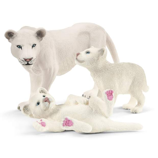 Löwenmutter mit Babys