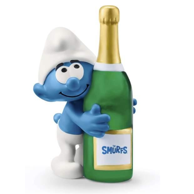 Schlumpf mit Flasche