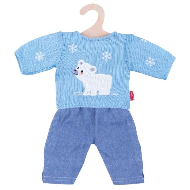 "Pullover ""Eisbär"" mit Jeans, Gr. 28-35 cm"