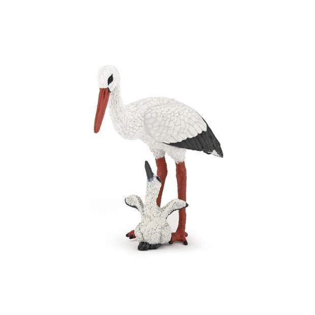 Storch mit Storchjunges